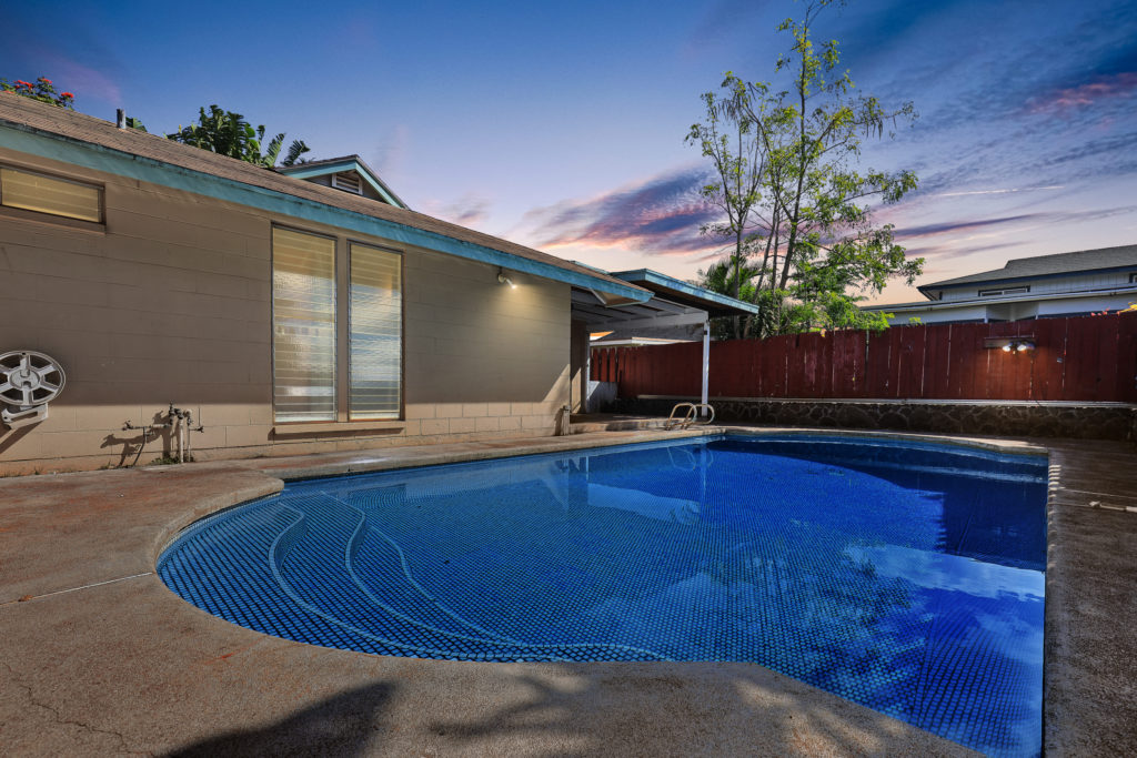 After cleaning out the pool, the house is now more suited for most buyers.